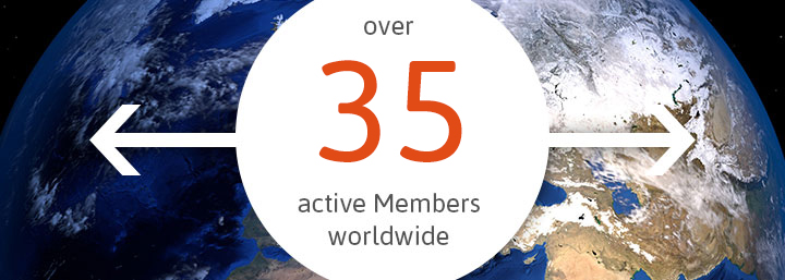 Over 55 active members worldwide
